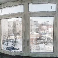 Остекление Г — образного балкона с выносом по ул. Казанская 18