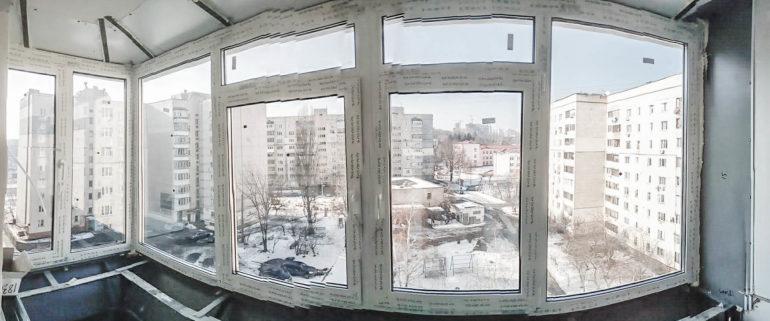 Остекление и вынос балконов, лоджии под ключ