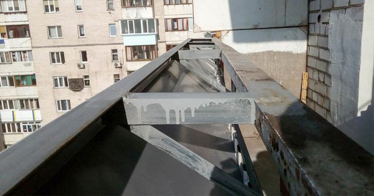 Вынос балкона Киев/Цены. Балкон с выносом Недорого в Киеве